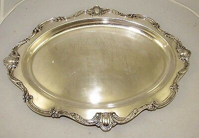 """Vintage Wilcox Silver Plate Co.#16"""" Carving Platter Rochelle Pattern Tray"""