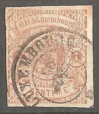 Luxembourg Looks # 1 To Confirm Light Folded Top Left Corner .fine Condition