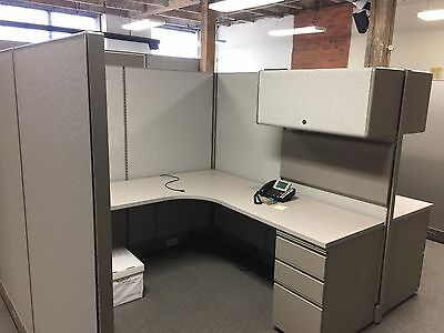 LOT OF 4 CUBICLES/PARTITIONS by HERMAN MILLER 6ftx6ft