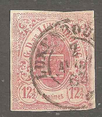 Luxembourg # 7 Used Fine Condition Cancel 1863  2 Scans Genuine Guarantee