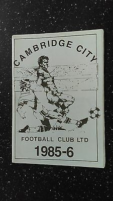Cambridge City V Corinthian 1985-86