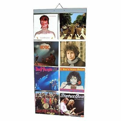 """Picture Pockets For 12"""" Vinyl Hanging Frame Photo Display Records Retro Music"""