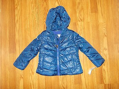 Nwt $80 Girls Size 6~Tommy Hilfiger~Blue Winter Coat Jacket New Hooded Fleece Ld