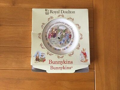 Bunnykins Christening Plate (1991) Boxed.