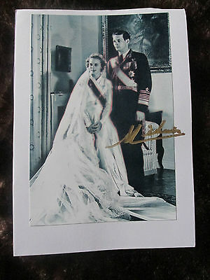 King Michael I Of Romania Hand Signed Photograph Mounted On Card