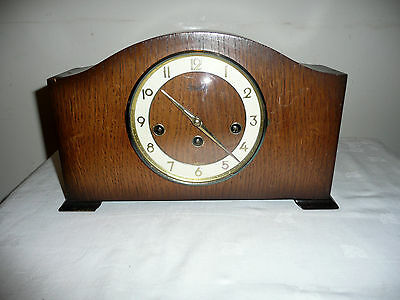 Bentima, Westminster Chimes Mantle Clock, Hermle Movement. Good Working Order.