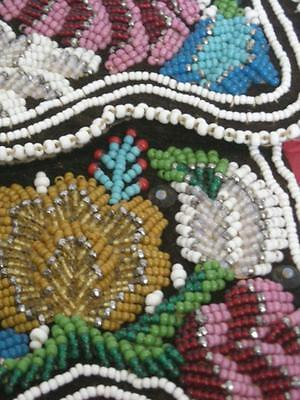 ANTIQUE / VINTAGE IROQUOIS woodlands INDIAN C.1860-80 beaded pouch - CLEAN+NICE