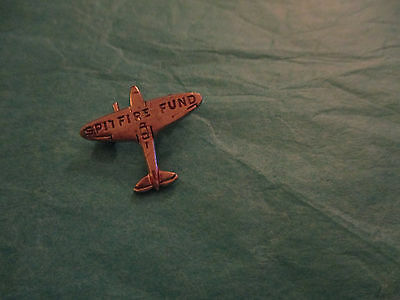 Vintage Ww2 Spitfire Fund Aircraft Pin Brooch Miniature