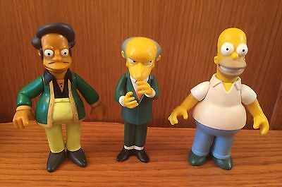 The Simpsons Figures X 3 Playmates Mr Burns, Homer And Apu