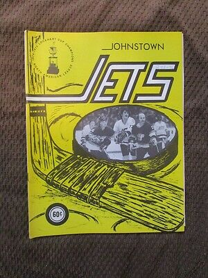 1976  Johnstown Jets Program vs. Maine Nordiques-Hanson Brothers