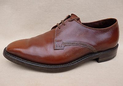 Men's Vintage Shoes Plain Toe Oxford by SUPER VICTOR English Made Brown Size 7