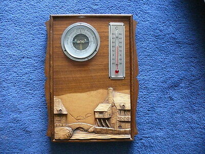 Art Deco Wetterstation Barometer Thermometer