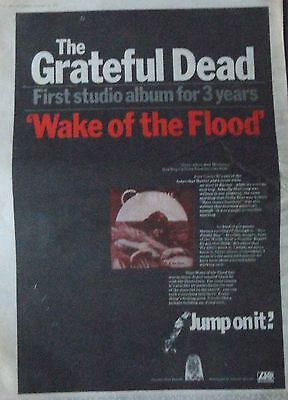 GRATEFUL DEAD : Wake Of The Flood -Poster Size NEWSPAPER ADVERT- 1973
