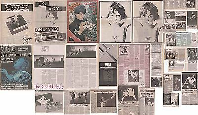 U2 : CUTTINGS COLLECTION -1980s- adverts interview
