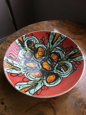 Stunning large 1960's Poole pottery abstract Delphis ware handpainted bowl