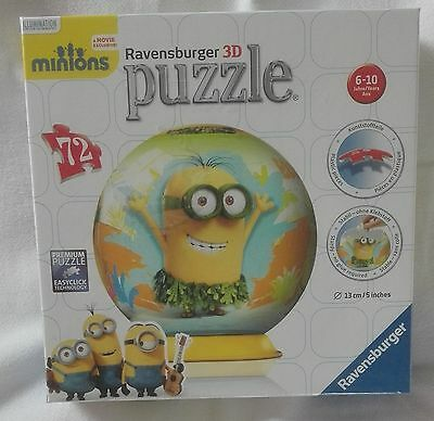 """3D Puzzle Ball 72pc """"Minions"""" by Ravensburger"""