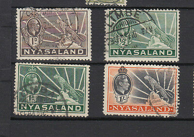 A very nice old Nyasaland quartet of issues