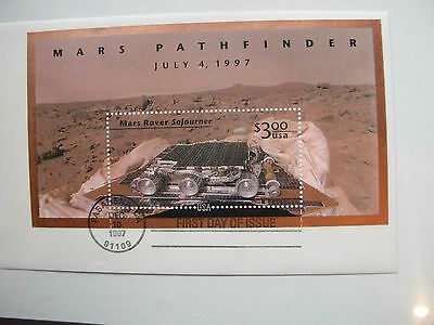 Mars Pathfinder July 4, 1997. First Day Of Issue  Stamp Pasadena,ca Dec. 1997