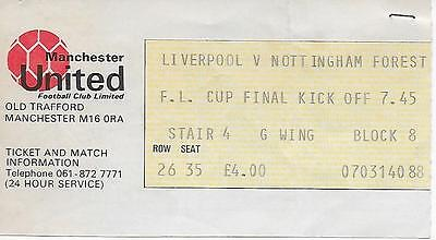 Livepool v Notts Forest 1978 League Cup Final Replay Ticket