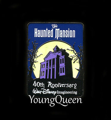 WDI Disney Haunted Mansion House Moon 40th Anniversary Glows in Dark Le Pin