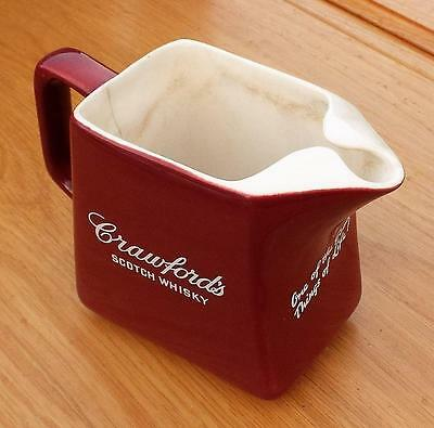 Crawfords Scotch Whisky Water Jug holds 1 Pint approx. Alcohol / Drink.