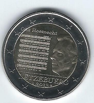 Pièce 2 euros commémo Luxembourg 2013 (Hymne national)
