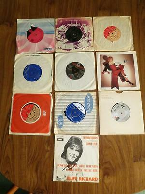 """Eurovision Uk Various Uk 7"""" Singles 10 In Lot.  Sold As Seen."""