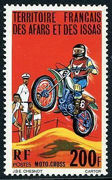 AFARS & ISSAS Sc.# 432 Motorcycle Race Stamp