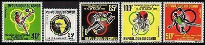 CONGO Sc.# 129-33 Sports Mint NH Stamps