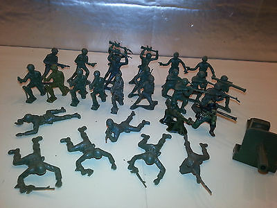 Vintage Timmee 54mm Toy Soldiers Lot 1960's-70's 26 pcs