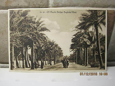 Vintage Postcard Off Maude Bridge Baghdad West Iraq A & K Naman Booksellers 38