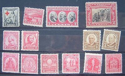 USA 1929-31 collection 14 mint n/h stamps