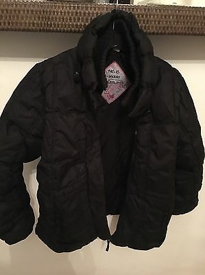 Next Girls Black Padded Coat Jacket Age 9-10 Immaculate Condition