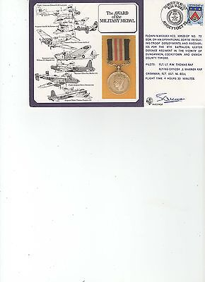 1985  R.a.f. - Dm 6 - Military Medal - Flown - Signed