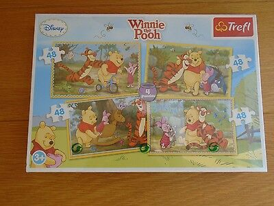 BN and sealed Disney Winnie the Pooh puzzles, 4 x 48 pieces,  3+ years