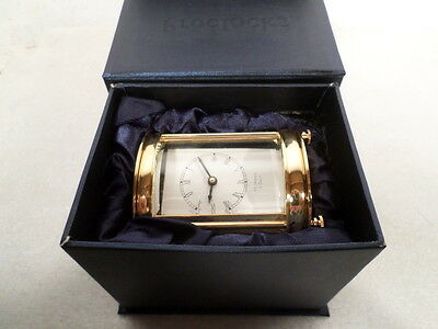 New Oval 15 Jewel 24K Gold Plated Carriage Clock