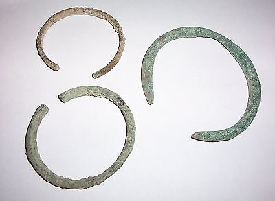 A group of 3 Late Bronze Age  bronze bracelets  c. 1000 B.C.