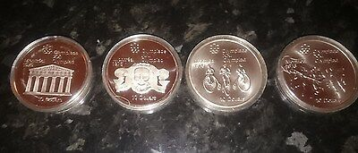 4 Silver Proof 1974 Canadian 10 Dollar Olympic Coins.
