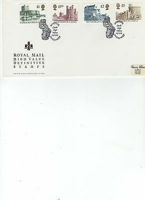 1992  DEFINITIVE - HIGH VALUES 1 to 5 POUNDS - WINDSOR SPECIAL POSTMARK