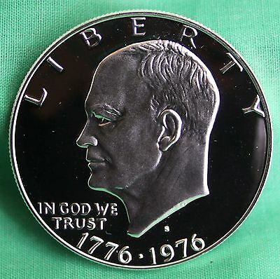 1976 S SILVER Eisenhower Dollar PROOF Ike $1 Bicentennial One Dollar Coin