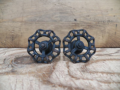 "Lot/Set of 2 Metal Blackish 2"" FAUCET HANDLE Drawer Pulls Knobs Coat Hooks Door"
