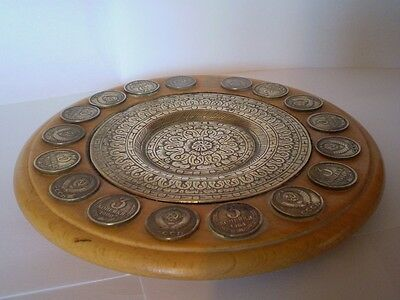 Stunning, Handmade Trnket Dish, Made With Russian Coins..