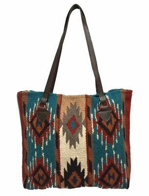 Maya Ladies Tote Purse Handwoven Southwestern Wool Handbag Zapotec Design E