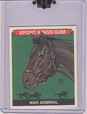 Awesome 2010 Sport Kings War Admiral Mini Card #192 ~Triple Crown ~ Horse Racing
