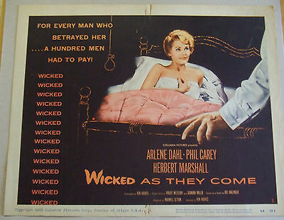 Set Of 8 Original Film Lobby Cards 1956 Wicked As They Come Arlene Dahl