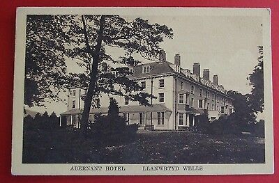 Postcard POSTED 1915 ABERNANT HOTEL LLANWRTYD WELLS BRECONSHIRE WALES