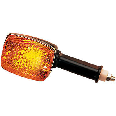 K&S DOT Turn Signal D/F Front Long Black Amber for Suzuki GS750E 1980-1982