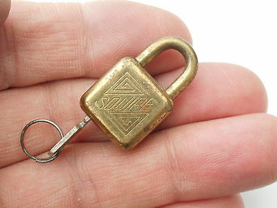 Vintage Small Working Padlock & Key Squires No 625 16Mm