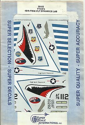 Microscale Superscale Decals 32-052 F-15A Eagle decals in 1:32 Scale