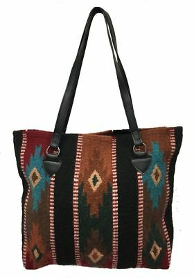 Maya Ladies Tote Purse Handwoven Southwestern Handbag Classic Zapotec Design C